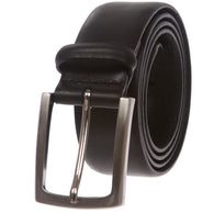 Men's Feather Edged Italian Leather Dress Belt