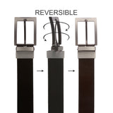 "Men's 1 1/4"" Cut-to-Fit Black or Brown Reversible Dress Belt"
