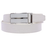 Men's Alligator Leather Automatic Buckle Slide Ratchet Dress Belt