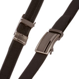 "Men's 1 3/8"" (35 mm) Microfiber Adjustable Automatic Ratchet Slide Perfect Fit Belt"