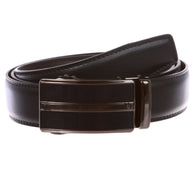 Men's Automatic Buckle Slide Ratchet Feather Edged Perfect Fit Dress Belt