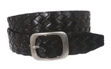 "Ladies 1 1/2"" Braided Leather Belt"