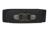 "3"" Wide High Waist Fashion Elastic Stretch Belt  Size: One"