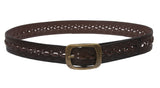 "Women's 1 1/2""  Braided Woven Non Leather Belt"
