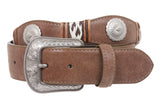 1 1/2'' Snap On Western Leather Casual Belt