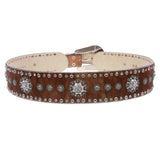 Womens 2 1/2'' Wide High Waist  Animal Fur Western Rhinestone Fashion Belt