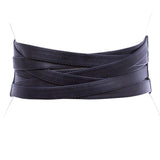 "4"" Women's High Waist Non Leather Fashion Wide Braided Stretch Belt"