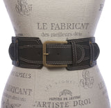 "3"" Ladies High Waist Fashion Stretch Belt with stitching Detailing Size: One"