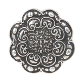 Round Flower Engraved Belt Buckle