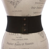 Women's High Waist Non Leather Fashion Wide Stretch Belt
