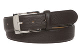 "Men's 1 1/4"" (34 mm) Pebble Grain Leather Dress Belt"