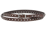 "3/4"" (19 mm) Oversize Skinny Rhinestone Double Wrap Faux Leather Belt"