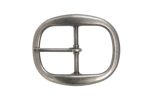 1 1/2 Inch Nickel Free Center Bar Single Prong Oval Belt Buckle