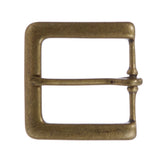 "1 3/8"" (35 mm) Single Prong Solid Brass Square Belt Buckle"