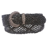 2 Inch Wide Braided Woven Perforated Belt
