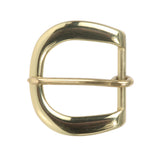 1 1/4 Inch Single Prong Round Solid Brass Belt Buckle