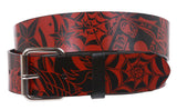 Snap On Tattoo Ink Fashion Bonded Leather Belt