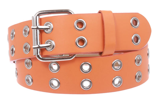 Two Row Grommets Fashion Belt