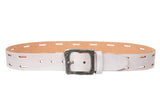 "Snap On 1 1/2"" Soft Hand Genuine Leather Casual Belt"