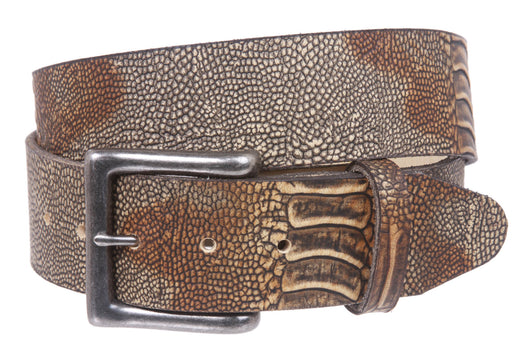 Snap On Alligator Texture Genuine Leather Belt