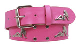 Snap On Trucker Girl Studded  Belt