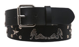 Snap On Double Twin Trucker Girl Studded Belt