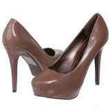 Breckelles Women's Patent High Heel Platform Pumps