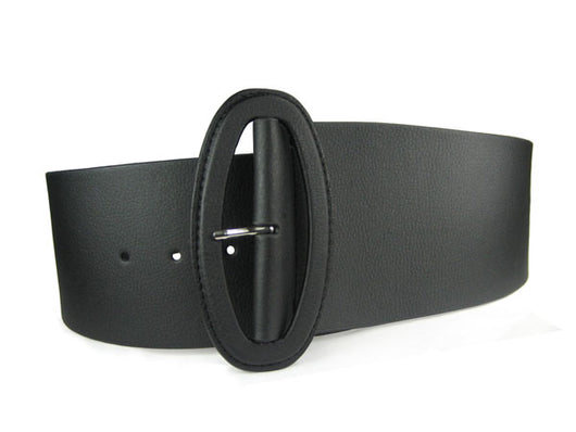 Ladies High Waist Wide Fashion Tapered Leather Belt