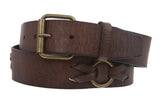 "1 1/2"" Snap On Oil-tanned Solid Leather Belt"