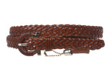 "Women's 3/4"" Skinny Braided Leather Belt"