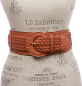 "Women's 3"" Wide High Waist Braided Fashion Stretch Belt"
