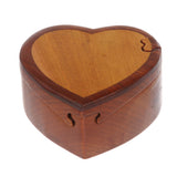Handcrafted Wooden Heart Shape Secret Jewelry Puzzle Box