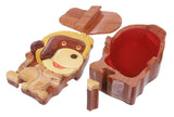Handcrafted Wooden Monkey Shape Secret Jewelry Puzzle Box - Monkey