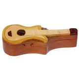Handcrafted Wooden Musical Instrument Shape Secret Jewelry Puzzle Box - Electronic Guitar