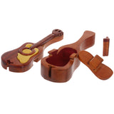 Handcrafted Wooden Musical Instrument Shape Secret Jewelry Puzzle Box - Guitar