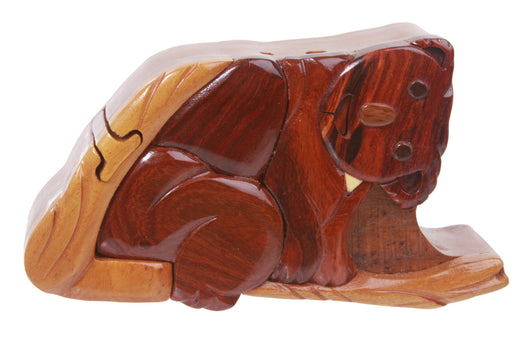 Handcrafted Wooden Koala Shape Secret Jewelry Puzzle Box -  Koala