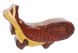 Handcrafted Wooden Crocodile Shape Secret Jewelry Puzzle Box - Crocodile