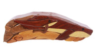 Handcrafted Wooden Whale Shape Secret Jewelry Puzzle Box -Whale