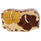 Handcrafted Wooden Flower Shape Secret Jewelry Puzzle Box