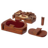 Handcrafted Wooden Musical Instrument Shape Secret Jewelry Puzzle Box - Drum Band