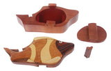 Handcrafted Wooden Tropical Fish Shape Secret Jewelry Puzzle Box -Tropical Fish