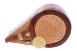 Handcrafted Wooden Badminton Shape Secret Jewelry Puzzle Box -Badminton