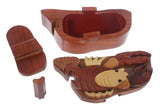 Handcrafted Wooden Lobster Shape Secret Jewelry Puzzle Box -Lobster