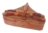 Handcrafted Wooden dragonfly Shape Secret Jewelry Puzzle Box -Dragonfly