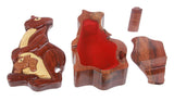 Handcrafted Wooden Kangaroo Shape Secret Jewelry Puzzle Box - Kangaroo