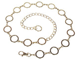 Ladies Metal Circle Chain Belt