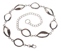 Ladies Oval Metal Chain Belt