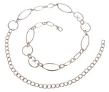 Ladies Metal Oval Circle Chain Belt