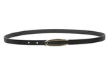 "1/2"" Skinny Faux Leather Fashion Belt Size: One-"