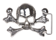 Skull and Cross Bone Pirate Belt Buckle